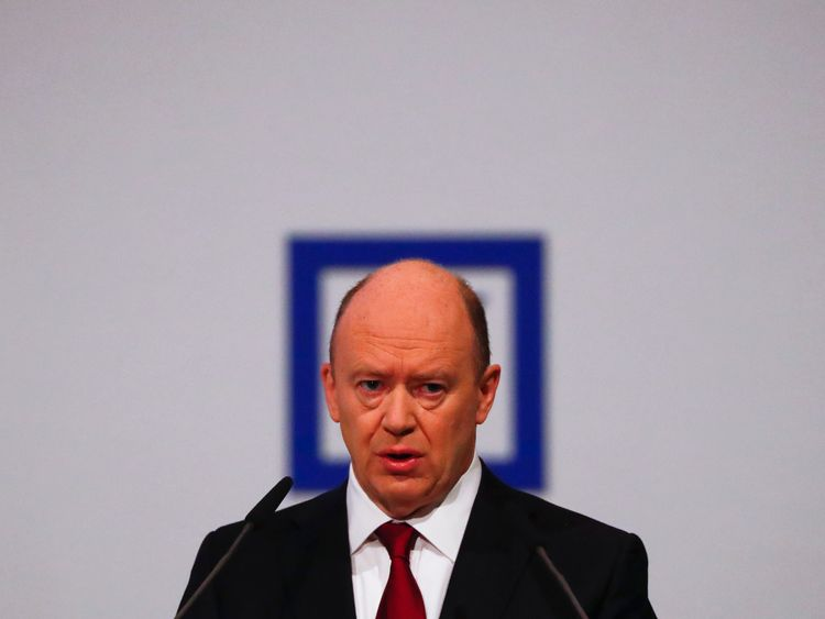 Deutsche Bank chief executive John Cryan at the bank's annual general meeting in Frankfurt in May 2016