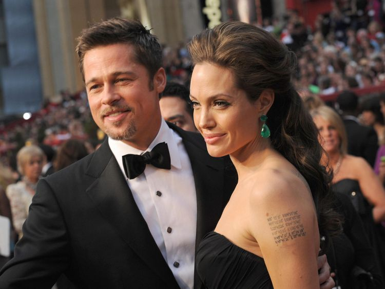 The couple at the Academy Awards in Hollywood, February, 2009