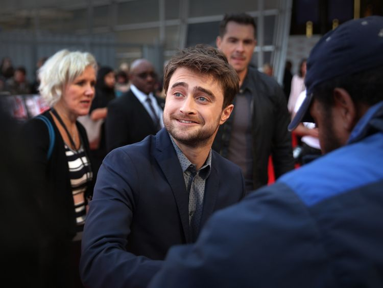 Daniel Radcliffe arrives for the Empire Live: Swiss Army Mam & Imperium double bill gala screening at Cineworld 02 Arena