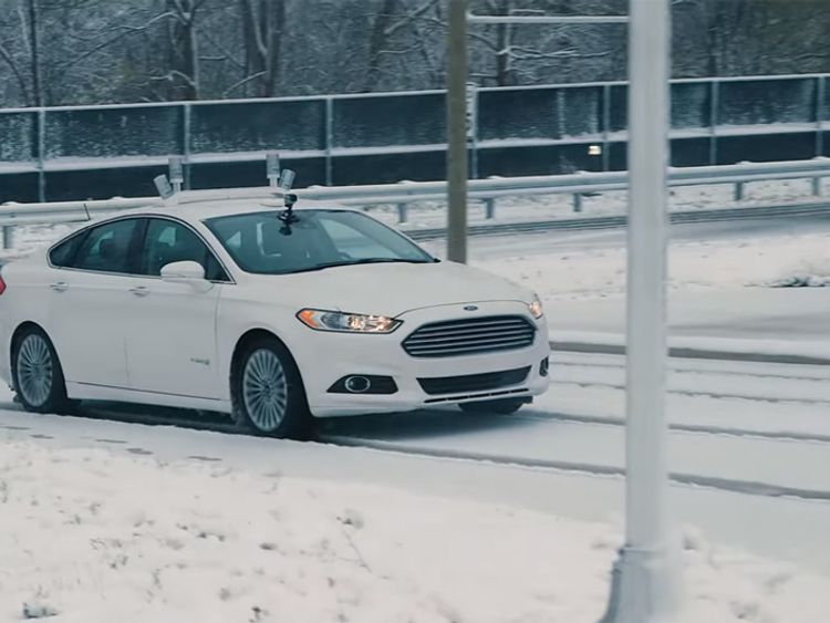 Ford's driverless technology fitted to a Mondeo