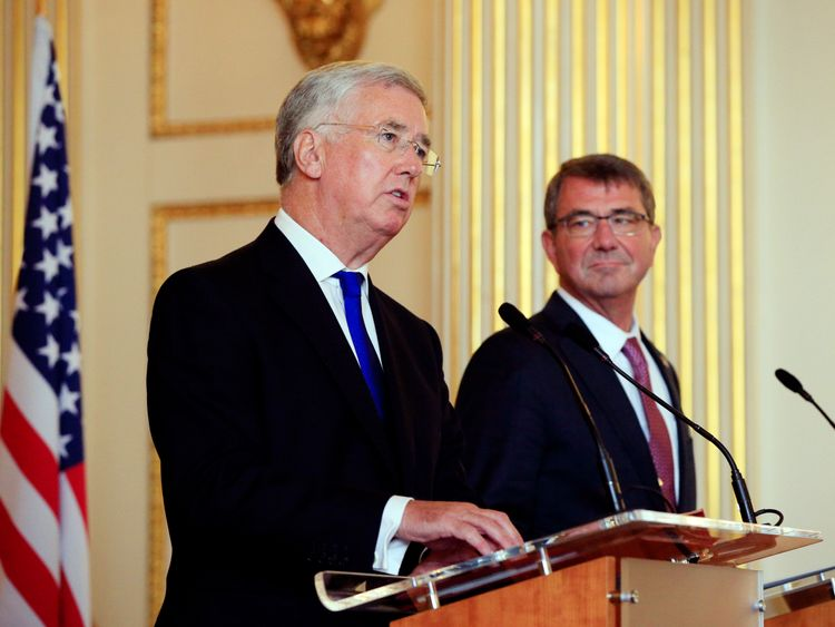 Defence Secretary Michael Fallon and his US counterpart Ash Carter have written in The Times