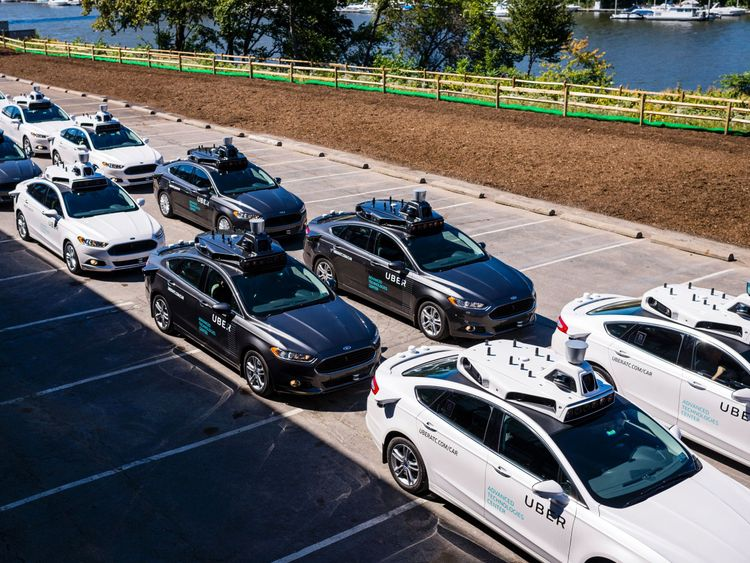 Uber has unveiled its own driverless adaptation of a Ford car