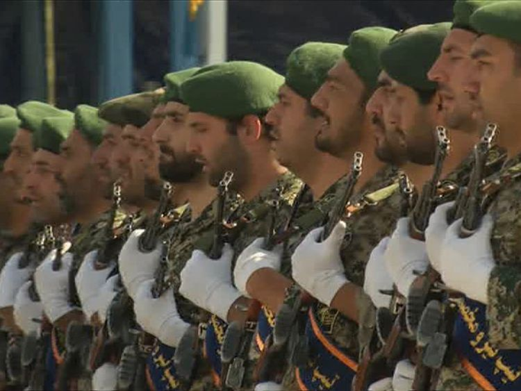 Elite Iranian troops parade in Tehran