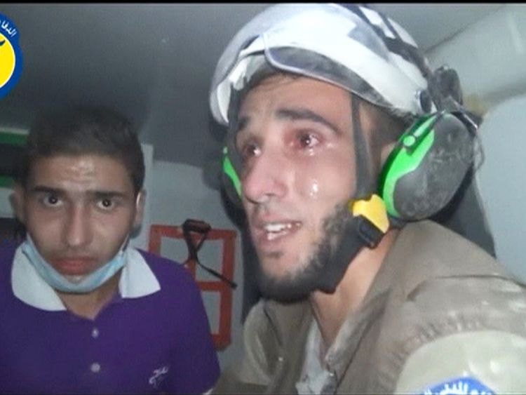 Rescue worker in Syria