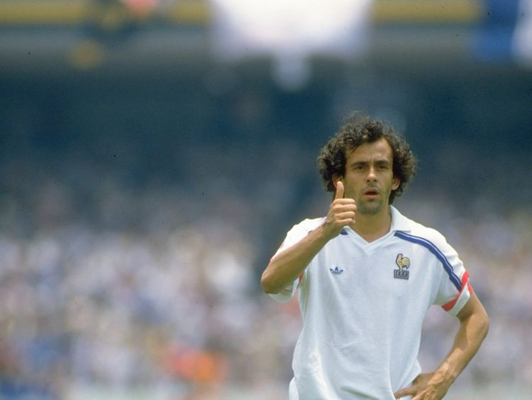 Platini during the 1986 World Cup in Mexico