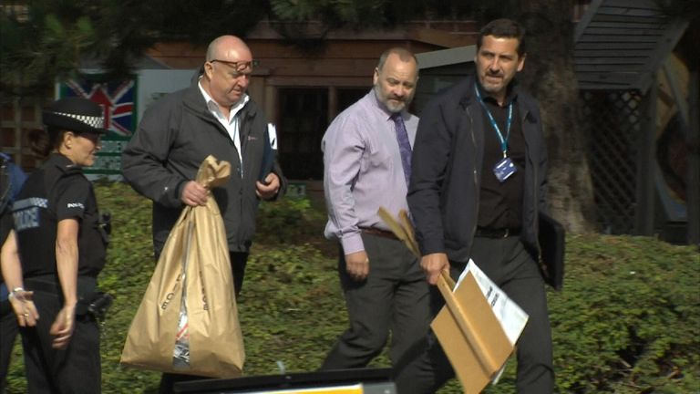 Police remove evidence from the Leamington gurdwara