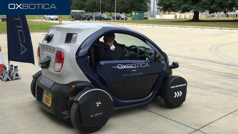 British company Oxbotica is developing driverless technology in Oxford