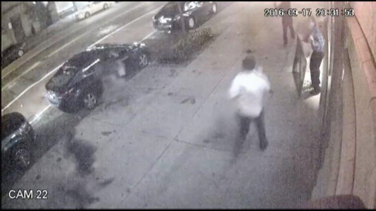 CCTV catches New York bomb blast