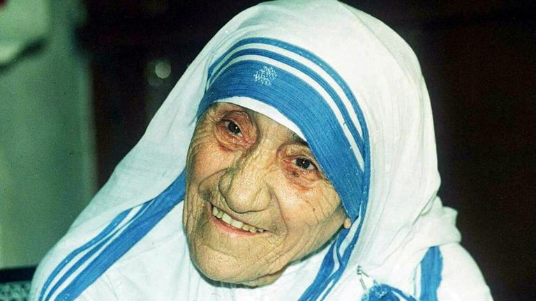 Mother Theresa, pictured in 1995