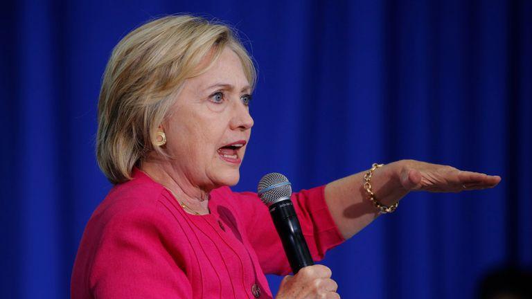 Hillary Clinton speaking in Philadelphia, Pennsylvania