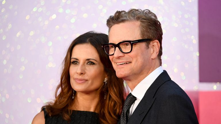 Co-star Colin Firth was at the premiere with his wife Livia