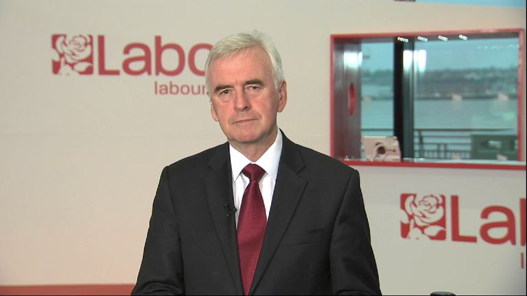 The shadow chancellor John McDonnell