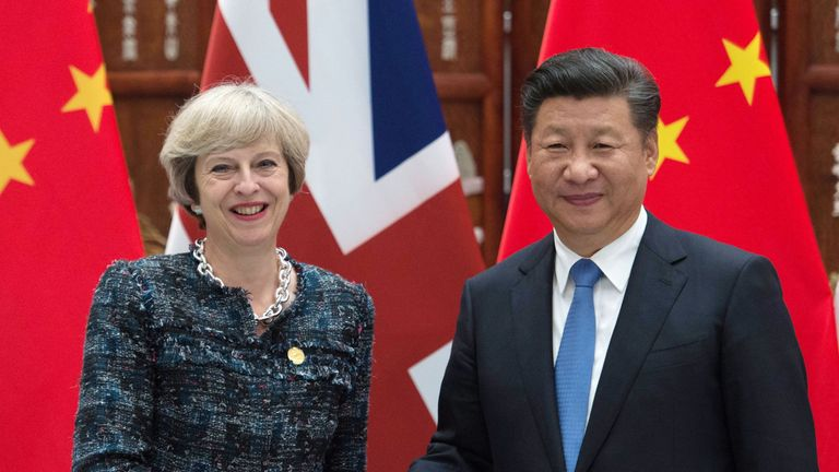 PM Theresa May holds a meeting with Chinese President Xi Jinping