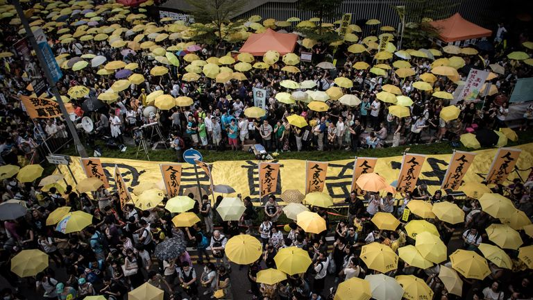 Hong Kong's Occupy movement, also called the Umbrella movement, has also caused concern to the Chinese authorities