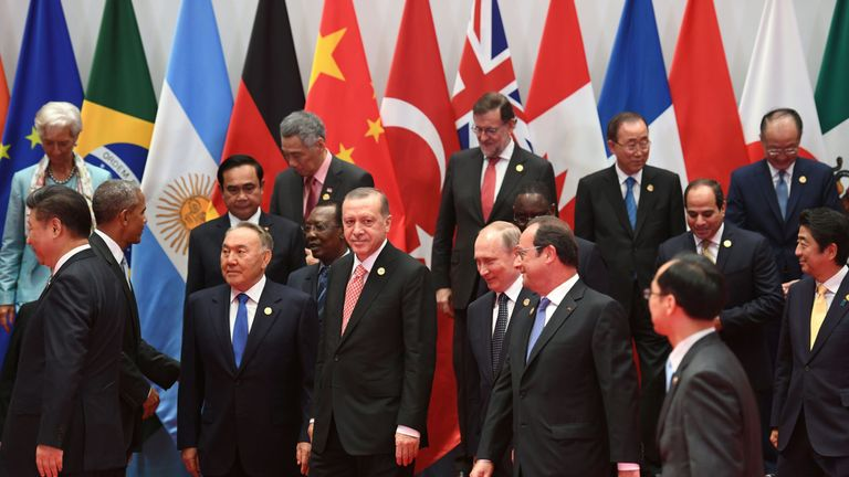 World leaders gather in Hangzhou for the G20 Summt