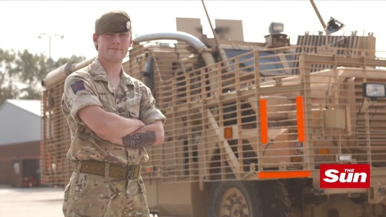 Guardsman Allen said it was a 'great honour' to make history. Pic: The Sun