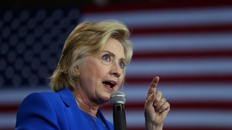 Hillary Clinton speaks at a voter registration event in North Carolina