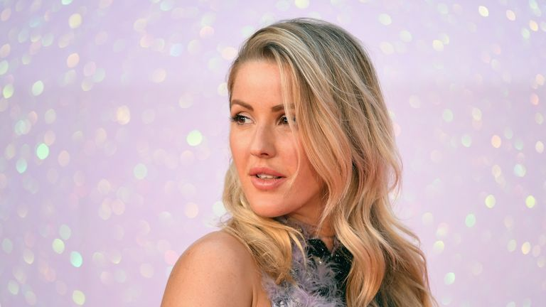 Ellie Goulding put in an appearance at the Leicester Square event
