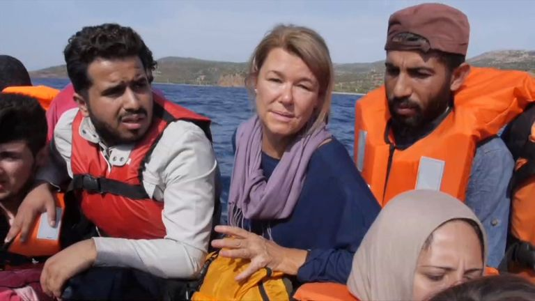 Alex Crawford's dramatic report from on board a migrant boat
