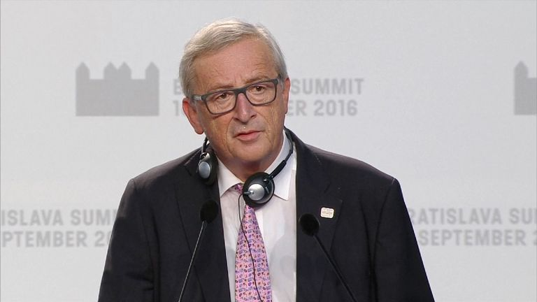 Jean-Claude Juncker says there can be no compromises with UK after Brexit
