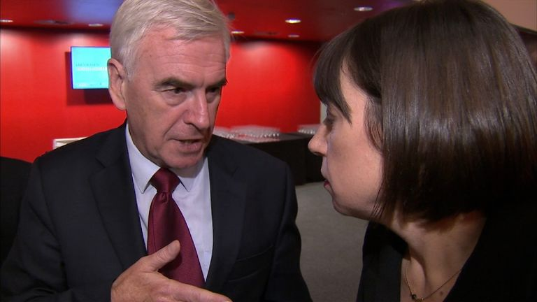 John McDonnell with Sky's Beth Rigby