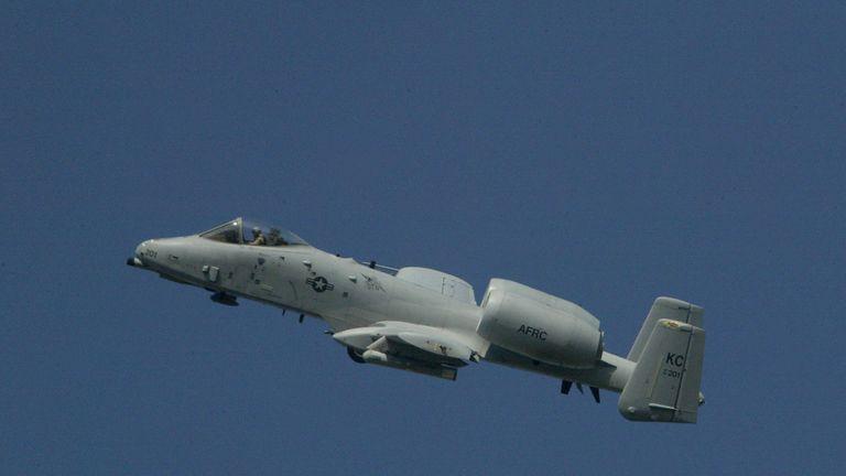A US air force A-10 aircraft