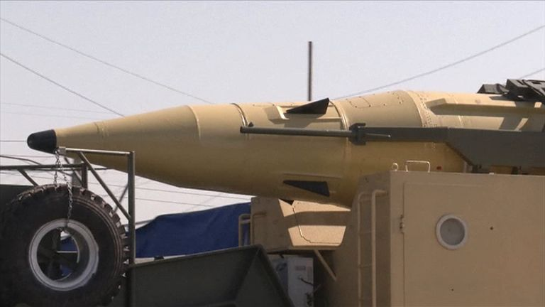 Iran shows off its long-range Ghadr missiles