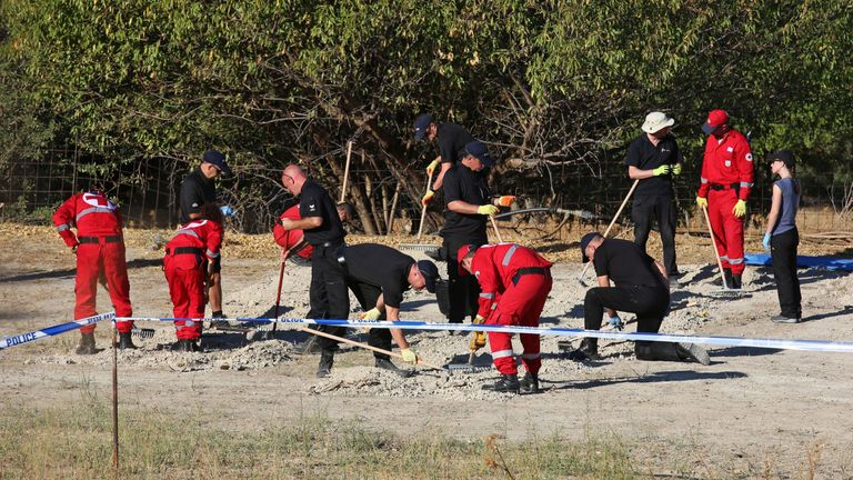 A 19-strong team of experts is taking part in the search