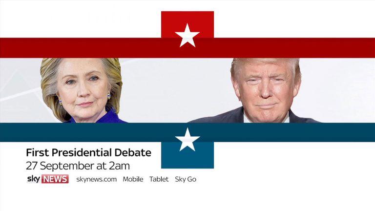 First Presidential Debate to get under way on 27 September