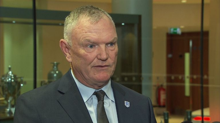 Chairman of the FA Greg Clarke gives reaction to Allardyce departure