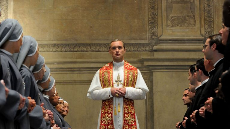 Jude Law's new role sees him as the head of the Catholic Church