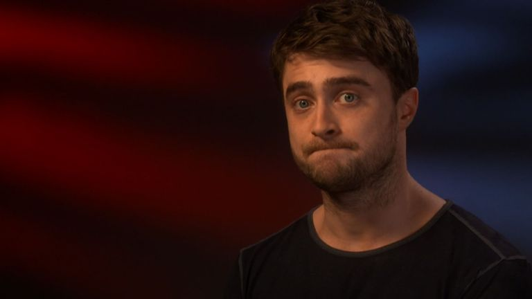 Daniel Radcliffe tells Sky why he doesn't use social media
