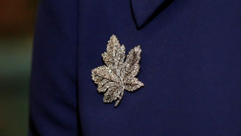 Kate's brooch for the Royal Tour of Canada