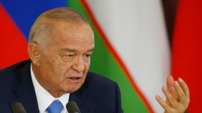Uzbek President Islam Karimov, in Moscow in April