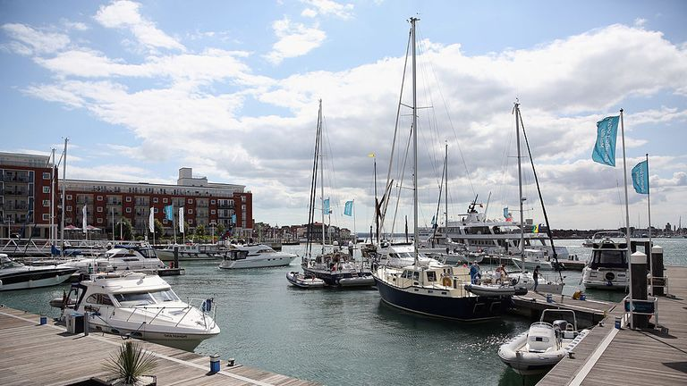 Shops and restaurants had to be evacuated at Gunwharf Quays. File pic