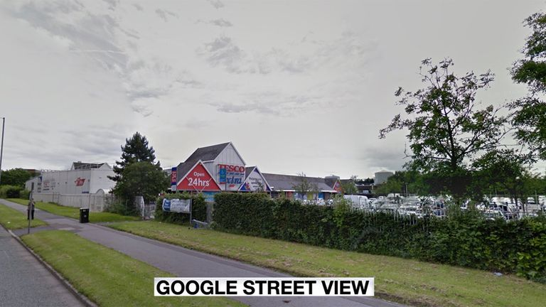 The attack allegedly happened at this Tesco store