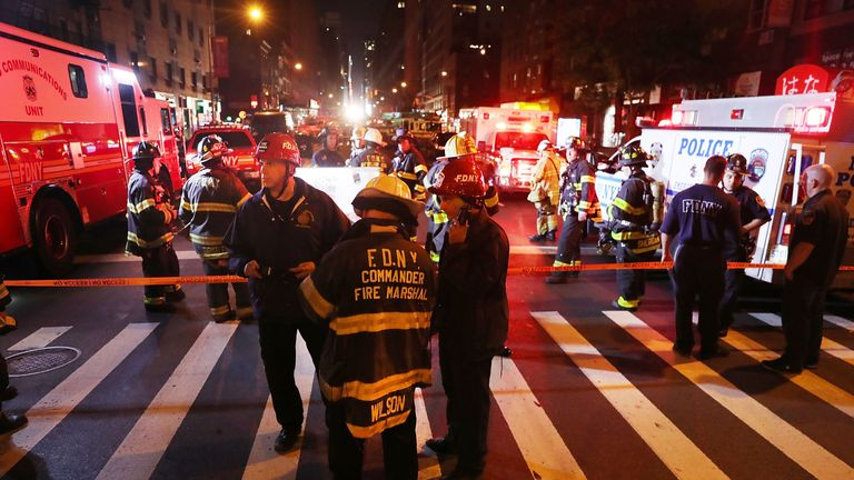 The scene following the explosion in Chelsea