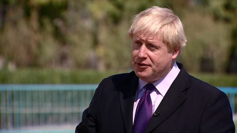 Boris Johnson talks to Sam Kiley