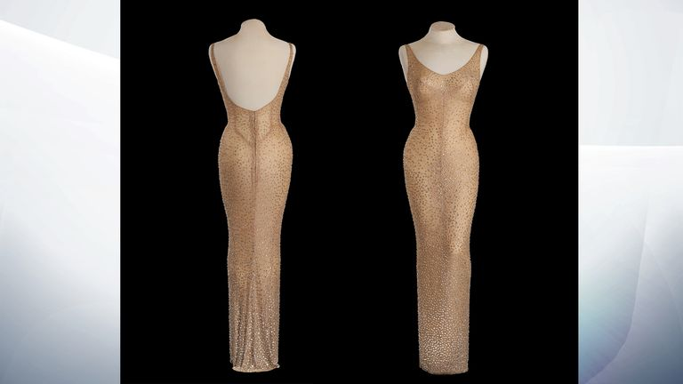 The dress worn by Marilyn Monroe to sing Happy Birthday Mr President is up for auction
