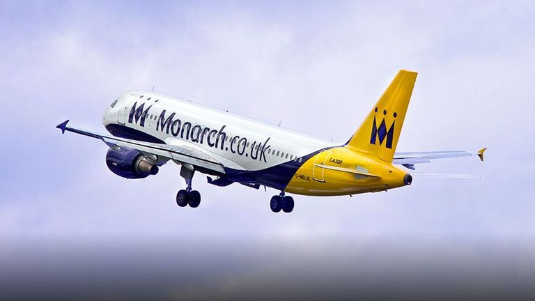 Monarch airlines employs around 2,800 people
