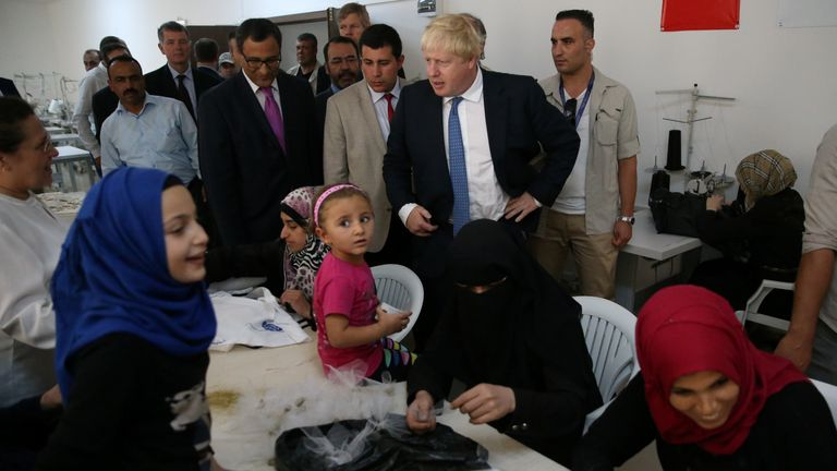 Mr Johnson will spend two days in Turkey