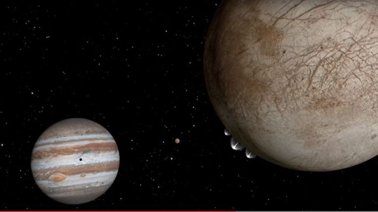 NASA's Hubble Spots Possible Water Plumes Erupting on Jupiter's Moon Europa