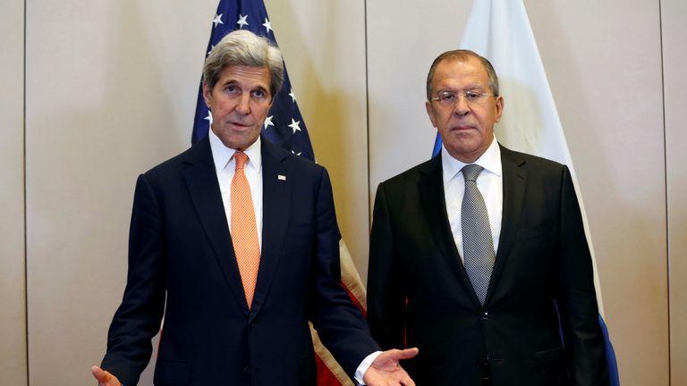 John Kerry has been meeting Russia's Sergei Lavrov in Geneva