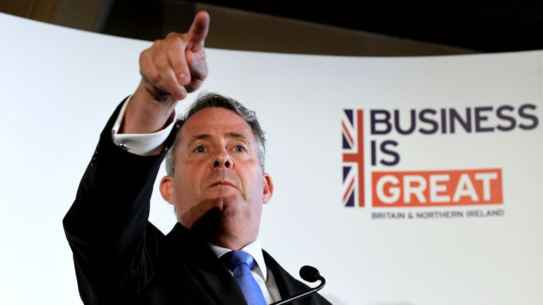 """Liam Fox argues the need to remove """"impediments"""" to boosting exports"""
