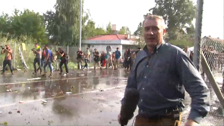 Colin Brazier reporting from the Serbia border