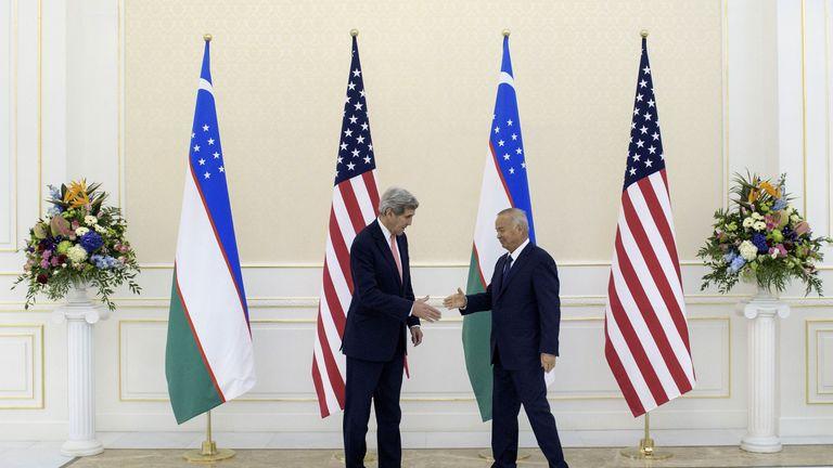 Karimov welcomed US Secretary of State John Kerry to Uzbekistan last year