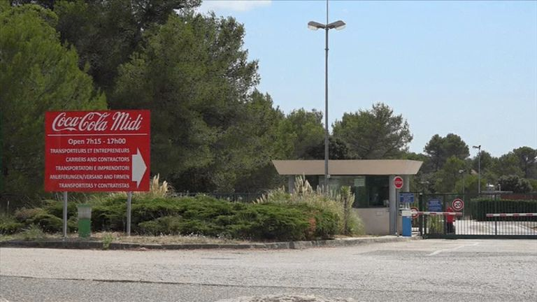 The Coca-Cola factory in Signes, southern France