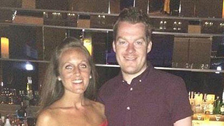 Car crash victim Joey Abbs and his partner Harriet