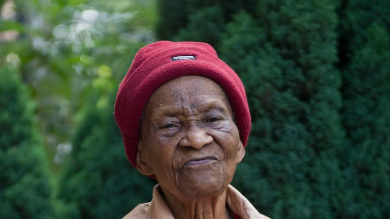 Alexteen Roberts, 101, who was robbed outside her home in Tottenham