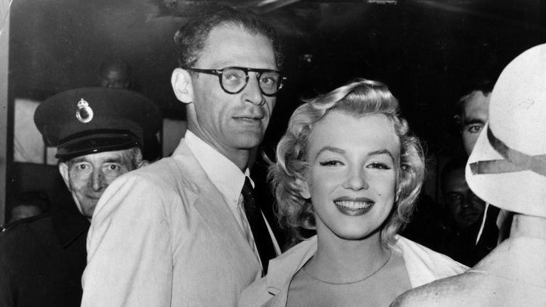 Marilyn Monroe with husband and playwright Arthur Miller